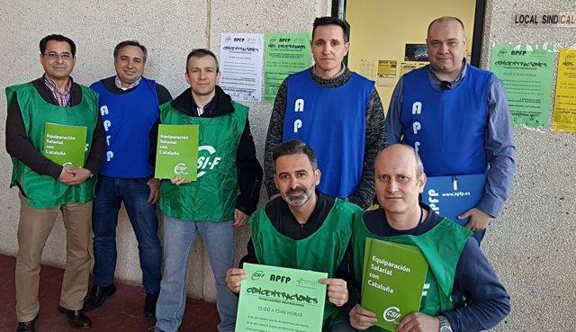 Delegados sindicales se encierran en la cárcel en señal de protesta