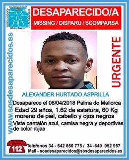 Alexandre Hurtado, desaparecido en Palma