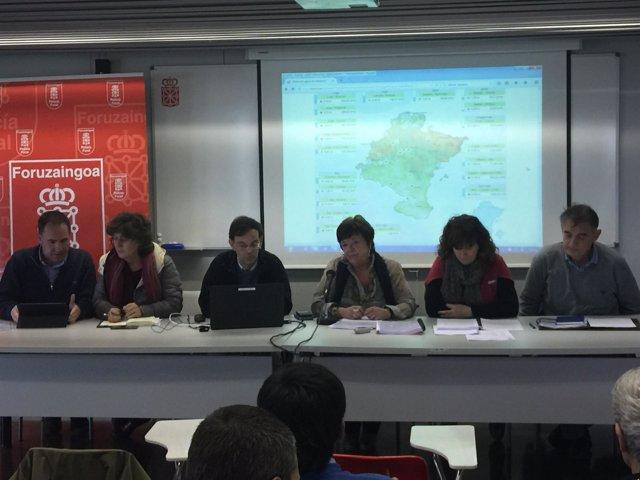 Beaumont en la reunión en Tudela