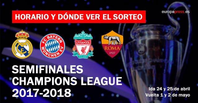 Sorteo de semifinales de Champions League 2018