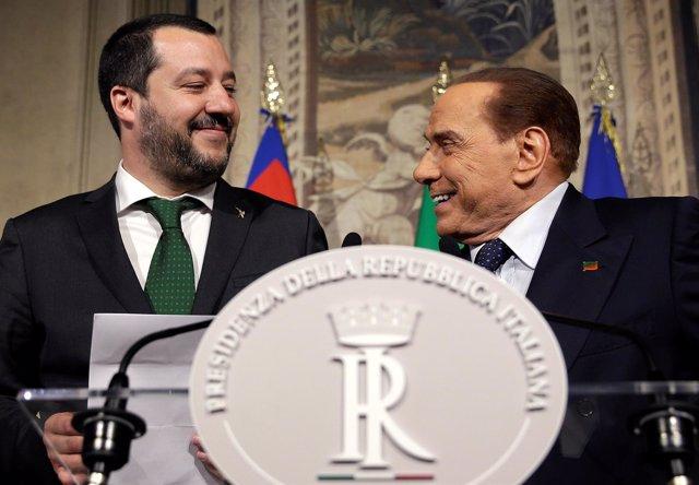 Matteo Salvini y Silvio Berlusconi
