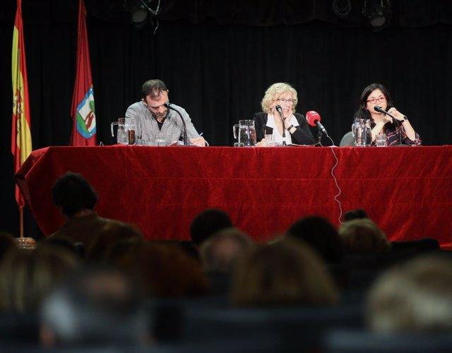 Manuela Carmena, Nacho Murgui y Rommy Arce