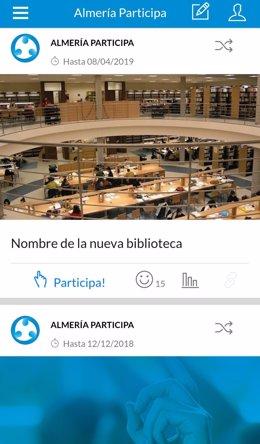 Encuesta a través de la app 'Almería Participa'