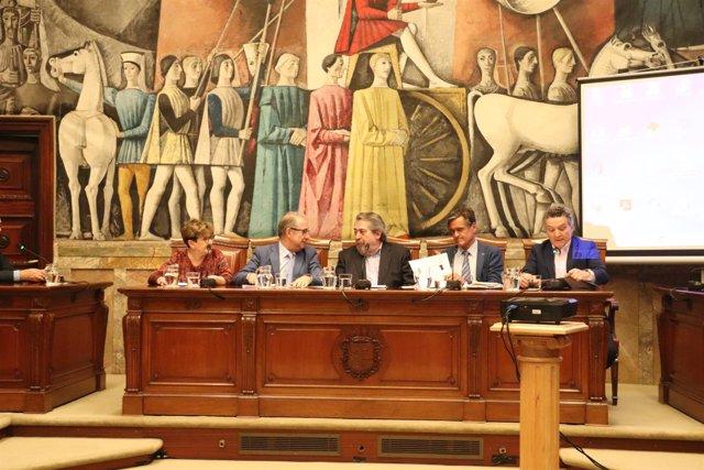 Sesión del Consejo Aragonés del Movimiento Europeo.