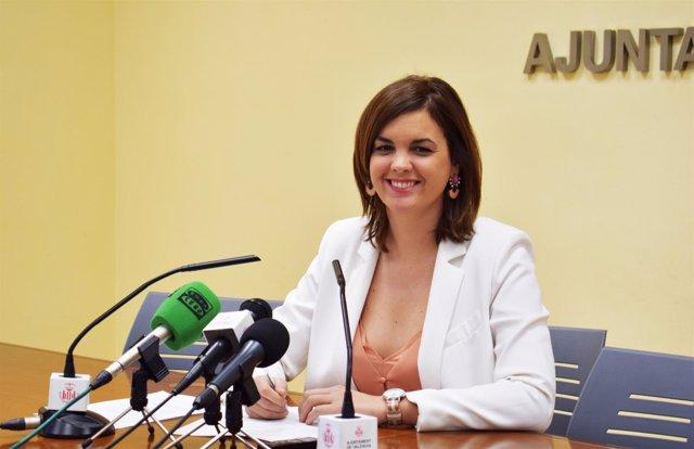 Sandra Gómez comparece tras la Junta de Gobierno Local