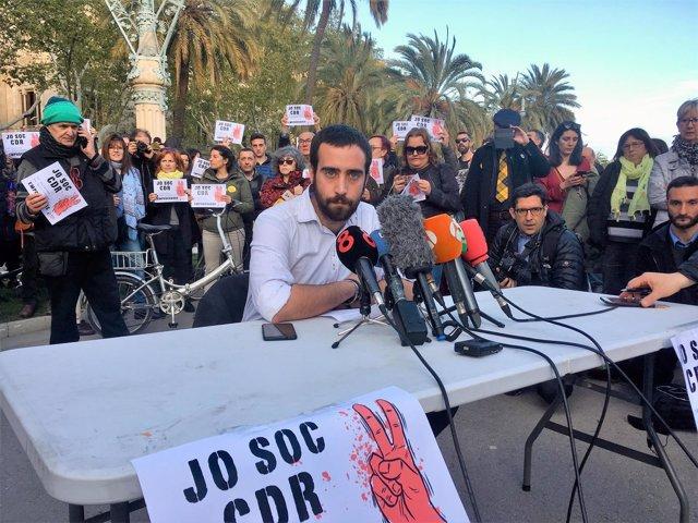 El abogado y portavoz de Alerta Solidària David Aranda