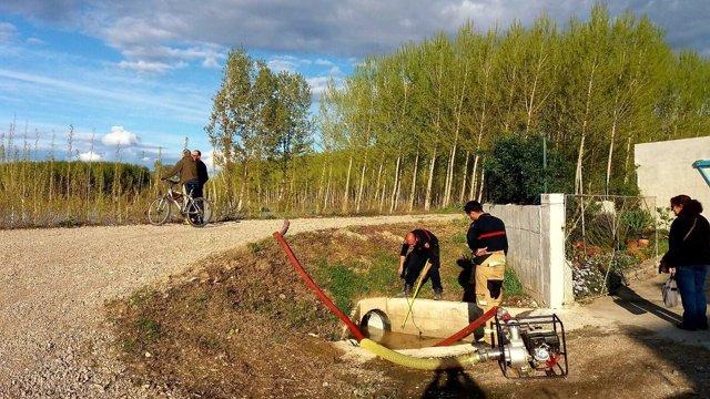 Bomberos de la DPZ despliegan un dispositivo preventivo en la Ribera Alta.