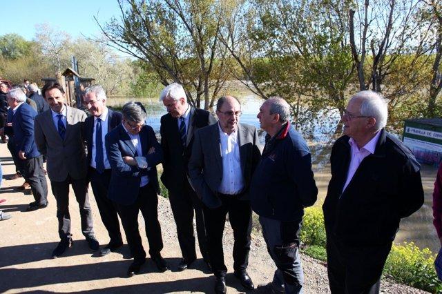 Lambán ha acudido esta tarde a Pradilla de Ebro (Zaragoza)