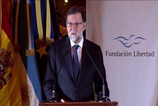 Rajoy comparece en la conferencia organizada por la Fundación Libertad en Bueno