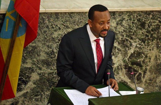 Abiy Ahmed, nuevo primer ministro, en el Parlamento