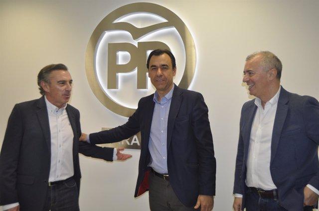 Fernando Martínez-Maíllo, Luis María Beamonte y Javier Campoy (PP).