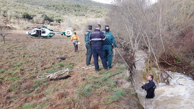 Operativo de búsqueda del pastor de Codos fallecido por la crecida del río Grío