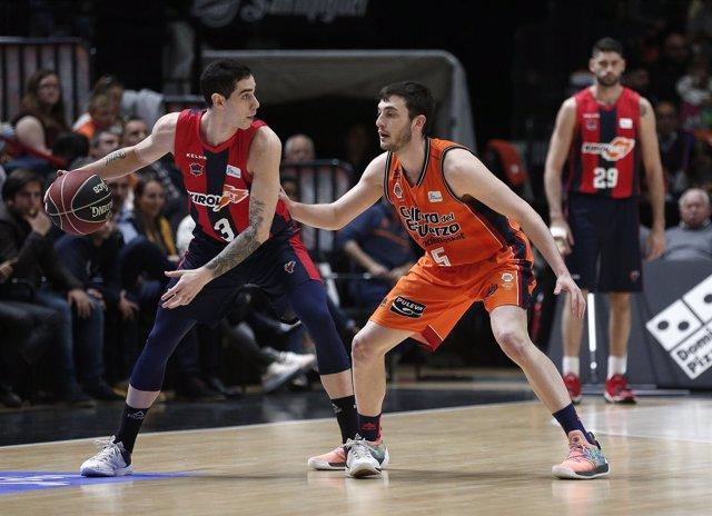 Baskonia y Valencia Basket se miden en la Liga Endesa