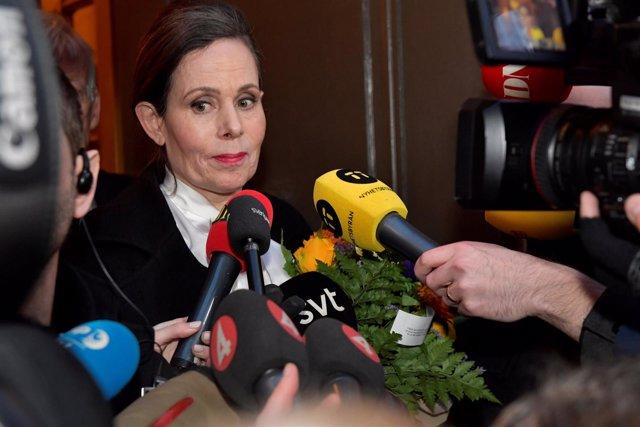 La Secretaria Permanente De La Academia Sueca, Sara Danius.