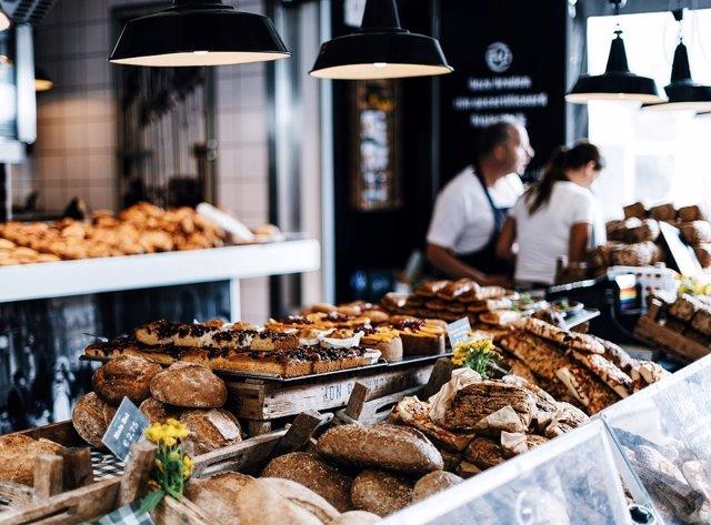 Panadería, comercio minorista