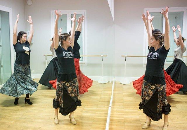 Flamenco clase magistral de Victoria Artillo coreógrafa málaga Noche en Blanco