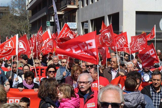 Manifestación por las pensiones dignas. Imagen de archivo.