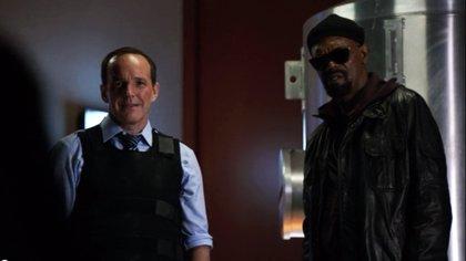 El agente Coulson se reencuentra con Nick Fury en el rodaje de Captain Marvel