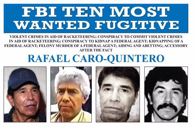 Cara Quintero entra en los más buscados del FBI