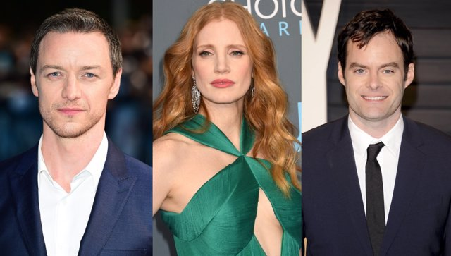 James McAvory, Bill Hader y Jessica Chastain