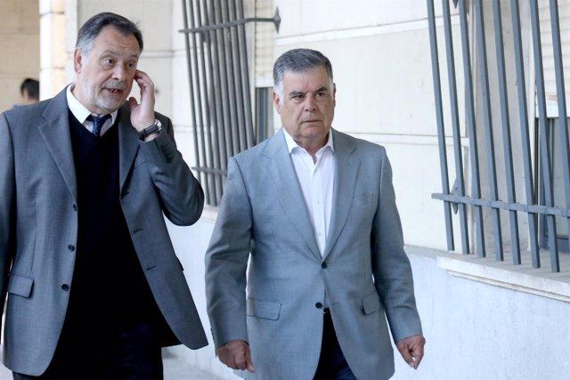 José Antonio Viera, en la Audiencia de Sevilla por el juicio de los ERE