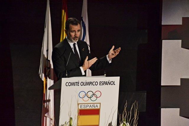 El Rey Felipe VI en el Comité Olimpico Español