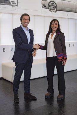 Alejandro Mesonero-Romanos (Seat) e Isabel Roig (BCD)