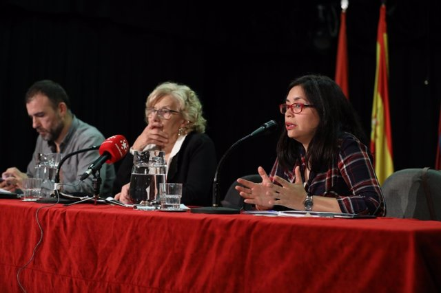 Rommy Arce, Manuela Carmena y Nacho Murgui