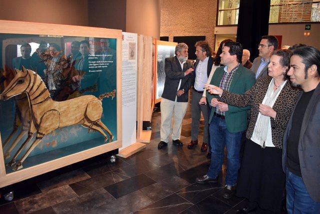 Inauguración exposición personajes y Quijote en Ciudad Real