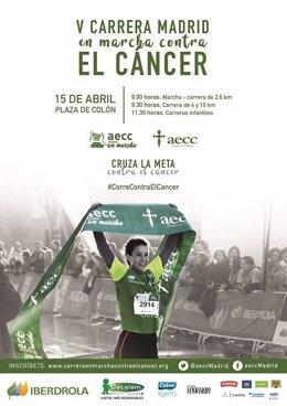 Marcha contra el cáncer en Madrid