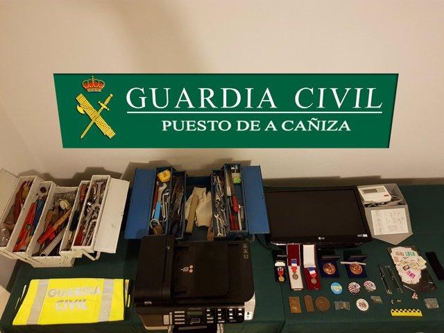 Tres detenidos por varios robos en A Cañiza (Pontevedra)