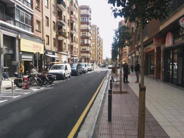 Imagen de la calle Milicias remodelada