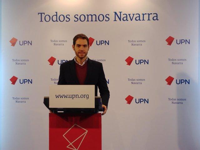 Sergio Sayas, parlamentario de UPN en la comisión de Salud