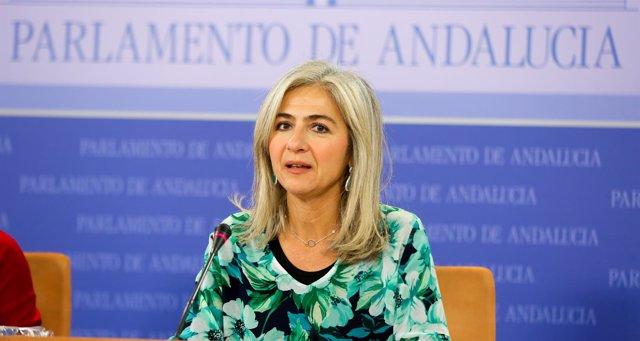 La diputada del PP-A y secretaria segunda de la Mesa, Patricia del Pozo