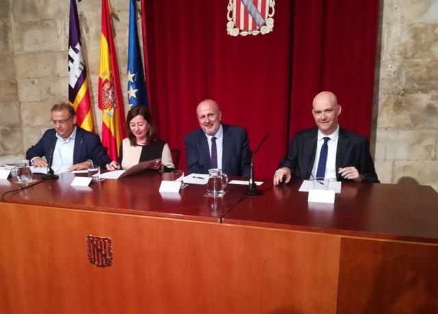 Rodríguez, Armengol, Ensenyat y Ricard Zapatero presentan el SIWC