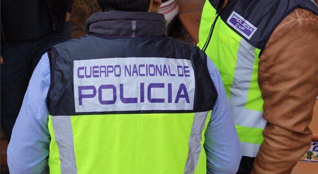 Policía, agente, policía en València