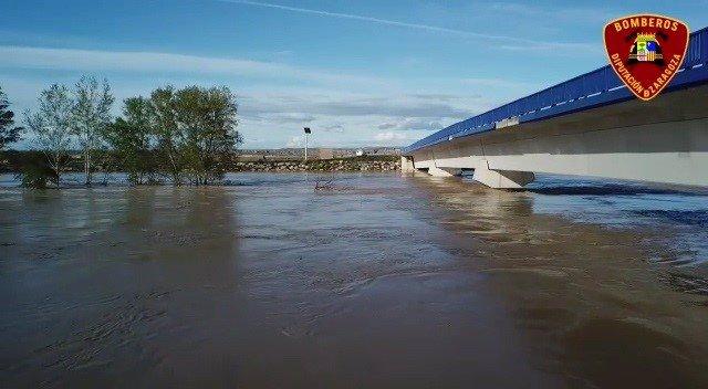 Imágenes de la crecida del río Ebro