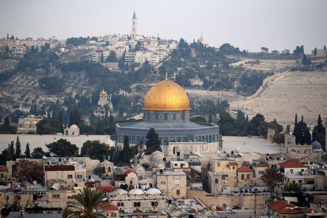 Vista de la Ciudad Vieja de Jerusalén