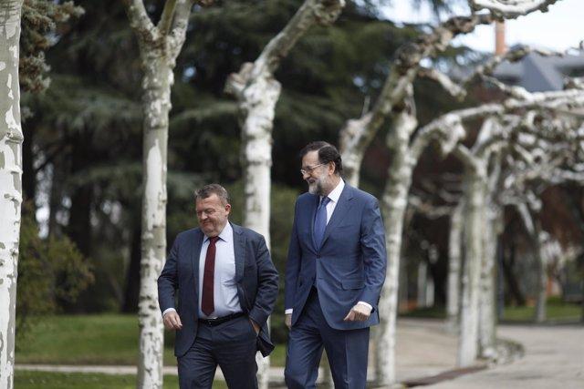Rajoy recibe en la Moncloa al primer ministro de Dinamarca, Lars Lokke Rasmussen