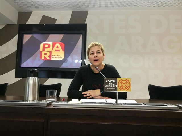 La diputada del PAR en las Cortes de Aragón, Berta Zapater