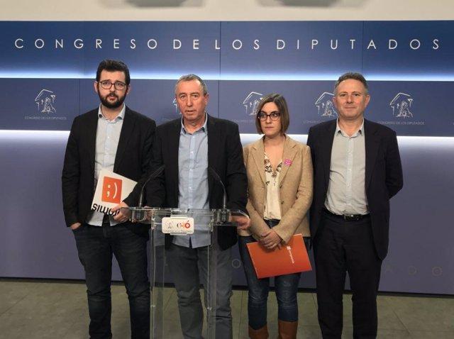Ignasi Candela, Joan Baldoví, Marta Sorlí y Enric Bataller