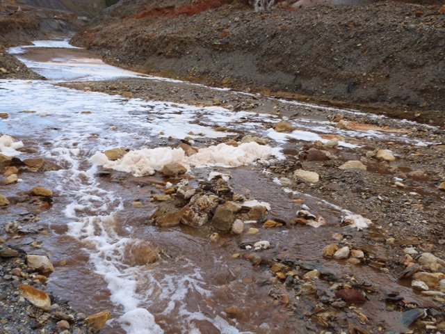 Denuncian supuestos vertidos tóxicos en el río Tinto.