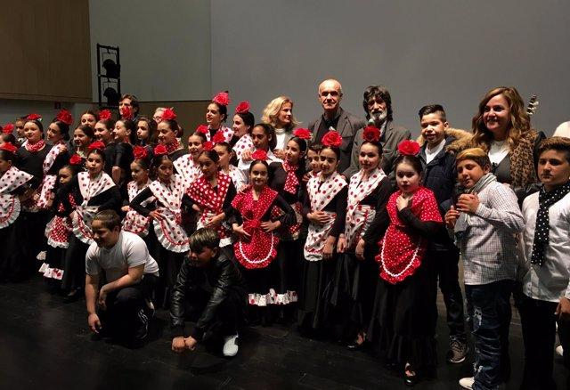 Ensayo abierto al público de un espectáculo de flamenco