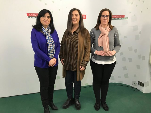 Nuria Varela en la sede del PSOE de Jaén