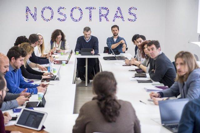 Reunión líderes Podemos