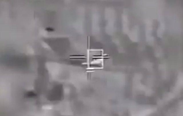 Dron iraní derribado por un helicóptero israelí