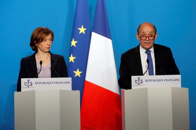 Florence Parly y Jean-Yves Le Drian