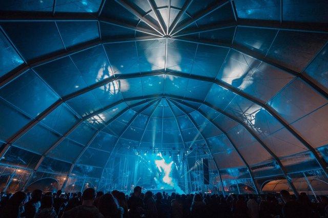 Carpa de música electrónica en Extremúsika 2018