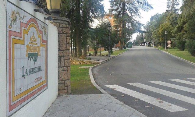 Entrada principal del Parador de la Arruzafa
