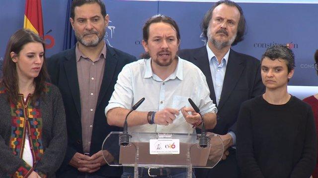 Pablo Iglesias declara en el Congreso de los Diputados